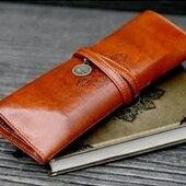創意文具 復古皮質筆袋