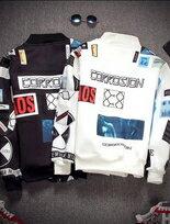 超挺太空棉英文人像圖案印花夾克