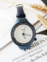 悠然詩意冰鑽似幻設計感真皮錶
