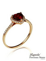 摯愛 璀璨玫瑰金 紅石榴寶石戒指