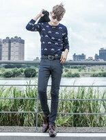 韓國布料新色褲英國旗幟皮標刷毛休閒褲