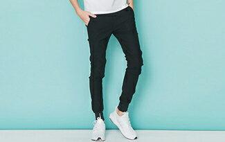 OBI YUAN 韓版電繡螺紋束口褲-潮流男裝,潮牌,外套,牛仔褲,運動鞋
