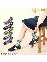 時尚春夏多彩格紋短襪