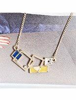 日本Kaza 幾何色塊星群交織項鍊