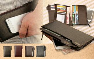 真皮大容量多卡位手機長夾-精品,包包,行李箱,配件,名牌