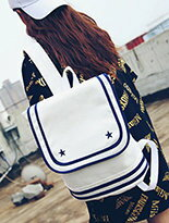 韓版復古海軍風雙肩包-精品,包包,行李箱,配件,名牌