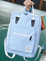 原宿帆布纯色手提雙肩-精品,包包,行李箱,配件,名牌