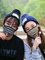 加厚彩紋防風口罩可開-運動器材,運動外套,籃球鞋,腳踏車,露營