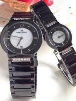 Max Max 極簡主義 鑲鑽 特殊切面 陶瓷對錶