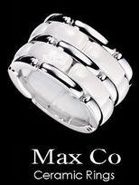 Max Co 精密陶瓷雙環戒指