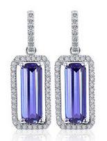 施華洛世奇合作品牌-CDE普羅旺斯紫- 925純銀彩鋯耳環