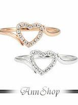 裸空鑽心純銀戒指.925純銀