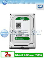 WD 威騰 WD20EZRX 2TB SATAIII 3.5吋 64M Green 綠標 2T 硬碟