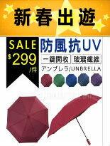 輕量防風自動開收晴雨傘