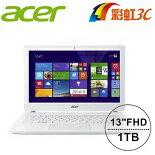 Acer 白色美型輕薄筆電(i5-4210U/13.3吋/FHD/1TB)