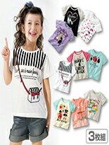 柔軟輕薄女童短袖-嬰兒,幼兒,孕婦,童裝,孕婦裝