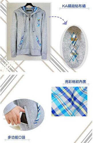 純棉保暖格紋連帽運動外套-嬰兒,幼兒,孕婦,童裝,孕婦裝