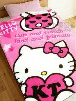 HelloKitty保暖刷毛毯