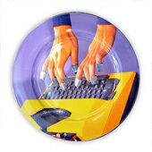 Typewriter打字機圓型陶瓷圓盤