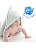 魚尾竹炭連帽大方巾-嬰兒,幼兒,孕婦,童裝,孕婦裝