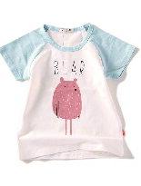 夏款彈力竹節棉卡通T-嬰兒,幼兒,孕婦,童裝,孕婦裝