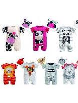 純棉二件套連身衣爬服-嬰兒,幼兒,孕婦,童裝,孕婦裝