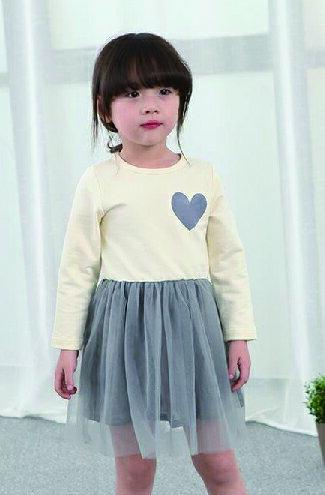 韓版網紗愛心公主連衣裙-嬰兒,幼兒,孕婦,童裝,孕婦裝