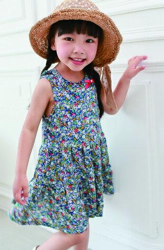 緞帶鄉村碎花連身裙-嬰兒,幼兒,孕婦,童裝,孕婦裝