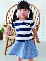 條紋海軍風拉鍊連身裙-嬰兒,幼兒,孕婦,童裝,孕婦裝