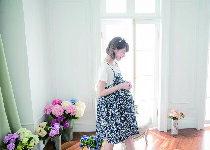 假二件細肩帶小碎花洋裝-嬰兒,幼兒,孕婦,童裝,孕婦裝