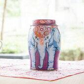 杰德洋行★英國設計獨特大象造型茶罐 來自肯亞自有茶園的好茶