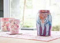 佩斯利花紋大象罐-飲料,咖啡,茶葉,果汁,紅茶