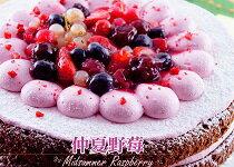 8吋仲夏野莓蛋糕 ★6種新鮮野-美食甜點,蛋糕甜點,伴手禮,團購美食,網購美食