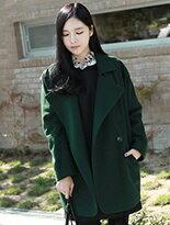 【Comico Korea】正韓雙排釦毛呢大衣