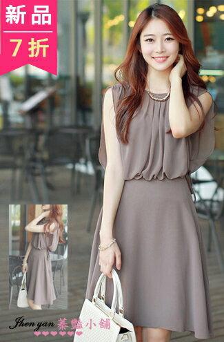 時尚氣質波西米亞雪紡無袖連身裙-女裝,內衣,睡衣,女鞋,洋裝