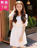 純色短袖小洋裝-女裝,內衣,睡衣,女鞋,洋裝