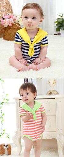 海軍風條紋三角連身衣-嬰兒,幼兒,孕婦,童裝,孕婦裝