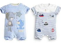 純棉小熊帆船條紋包屁衣-嬰兒,幼兒,孕婦,童裝,孕婦裝