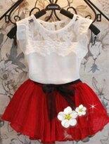 蕾絲雪紡背心裙-嬰兒,幼兒,孕婦,童裝,孕婦裝