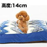 藍色波紋珊瑚絨澎澎軟床墊-寵物,寵物用品,寵物飼料,寵物玩具,寵物零食