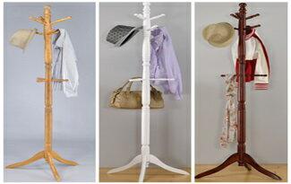 生活大發現  實木衣帽架  柚木\ 白色\ 胡桃木色  三色可選   收納方便又實用 絕不可錯過-家具,燈具,裝潢,沙發,居家