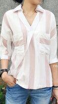 正韓│直條口袋襯衫-女裝,內衣,睡衣,女鞋,洋裝