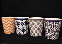 馬克杯四色幾何紋組合-家具,燈具,裝潢,沙發,居家