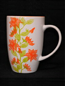 馬克杯橘色花草紋-家具,燈具,裝潢,沙發,居家