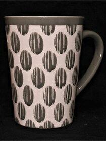 馬克杯灰色幾何紋-家具,燈具,裝潢,沙發,居家