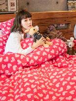 糖心女孩搖粒絨床組-家具,燈具,裝潢,沙發,居家