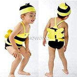 蜜蜂吊帶三角連身泳衣+帽-嬰兒,幼兒,孕婦,童裝,孕婦裝