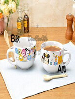 迪士尼陶瓷湯杯碗附匙-嬰兒,幼兒,孕婦,童裝,孕婦裝