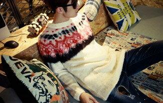 韓國製 頂極毛海 高磅 圖騰毛衣-潮流男裝,潮牌,外套,牛仔褲,運動鞋