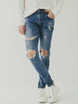 牛仔褲 3大洞內拉鍊-潮流男裝,潮牌,外套,牛仔褲,運動鞋